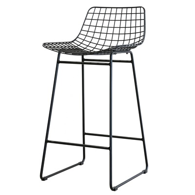 Pair Of Wire Breakfast Bar Stools In Black Hk Living