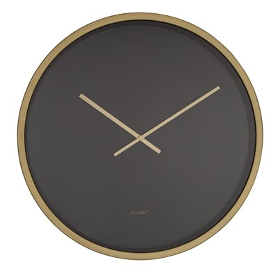 Zuiver Bandit Large Wall Clock In Black Brass Zuiver Cuckooland