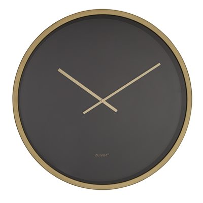 ZUIVER LARGE WALL CLOCK in Black & Brass
