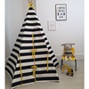 Childrens Tipi in Black and White Stripes