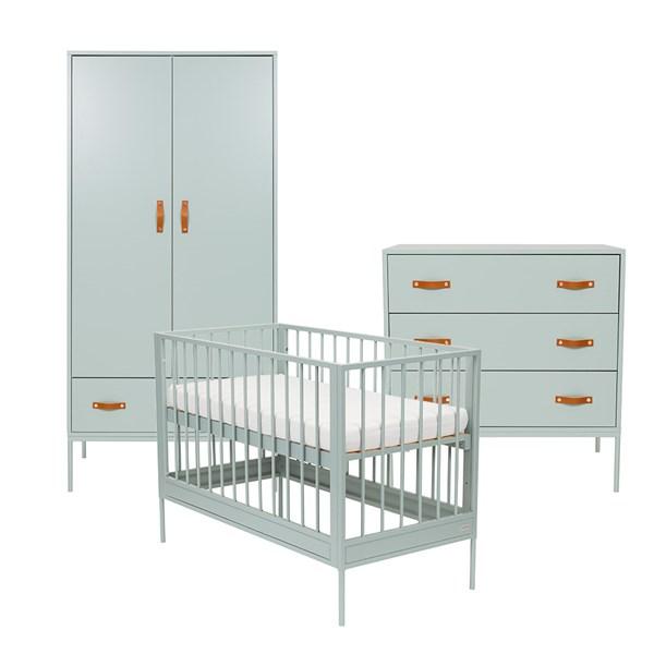 Bliss 3 Piece Nursery Furniture Set in Seagreen