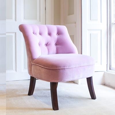 VELVET Occasional Tub Chair in Blossom