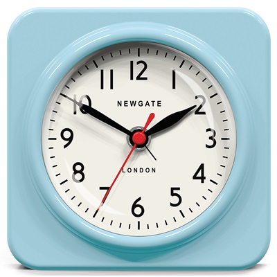 NEWGATE BISCUIT Retro Alarm Clock in Blue