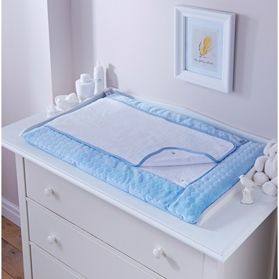 BABY CHANGING MAT in Blue Marshmallow Design