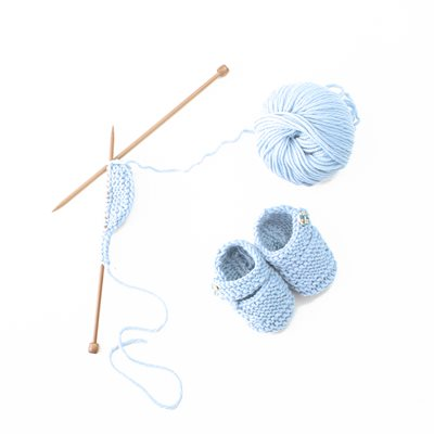 STITCH AND STORY BONNY BOOTIES in Baby Blue
