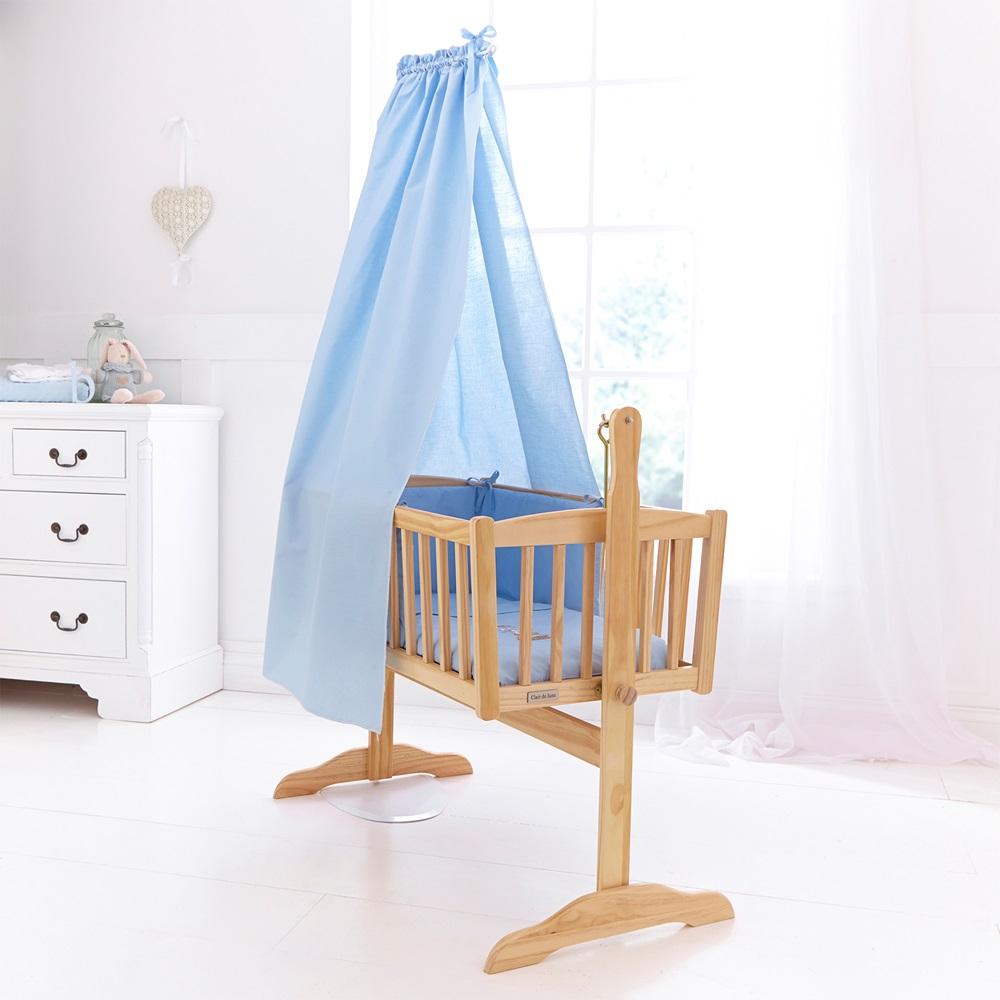 freestanding drape  rod set for baby cribs  nursery cots  cradles  - bluebabycribdrapenurseryset