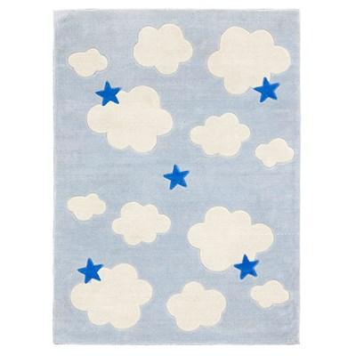 Clouds U0026 Stars Childrens Rug In Blue