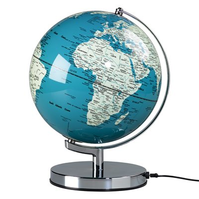 "WILD & WOLF LIGHT UP 10"" GLOBE in French Blue"