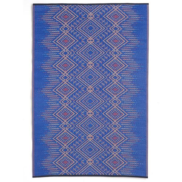 Fab Hab Jodphur Outdoor Rug in Blue