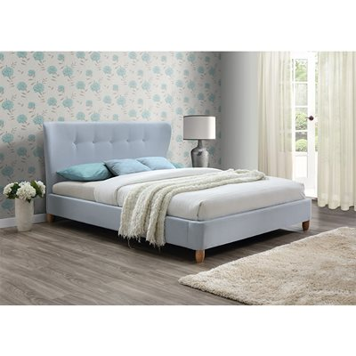 KENSINGTON UPHOLSTERED BED in Sky Blue by Birlea