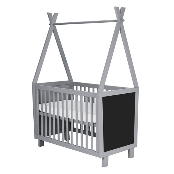 Framed Teepee Baby Cot in Blue Grey