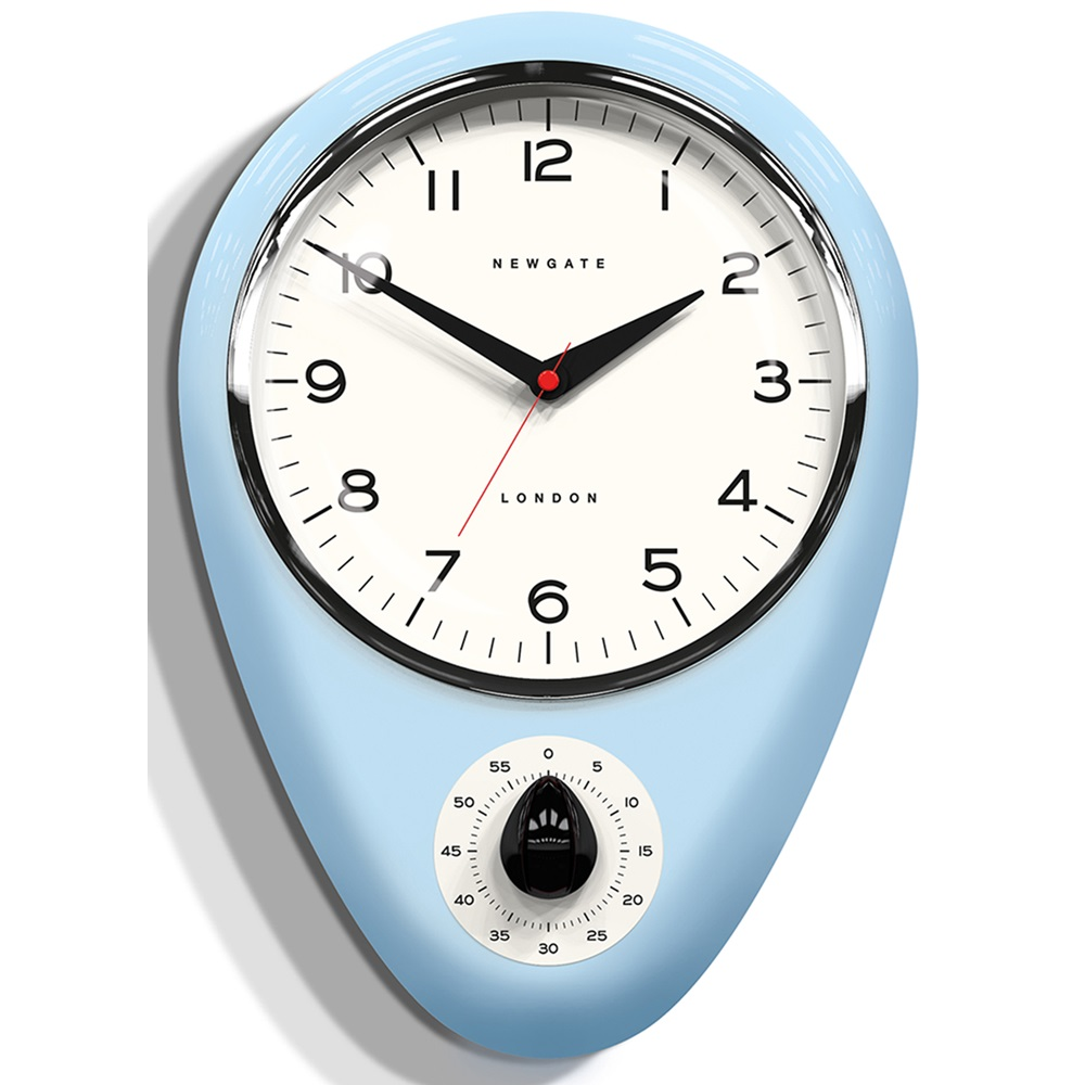 The discovery kitchen timer and clock wall clocks for Blue kitchen wall clocks