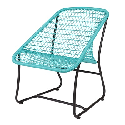 VIGO LOUNGE RATTAN CHAIR in Turquoise
