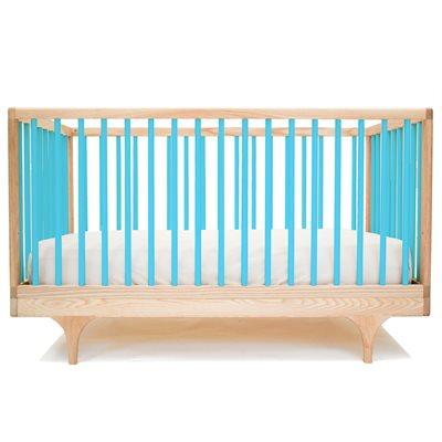 KALON STUDIOS CARAVAN COT & TODDLER BED in Blue