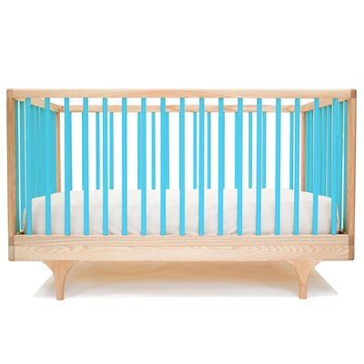 KALON STUDIOS CARAVAN COT & TODDLER BED in Blue