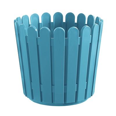 LANDHAUS ORIGINAL ROUND GARDEN PLANTER in Turquoise