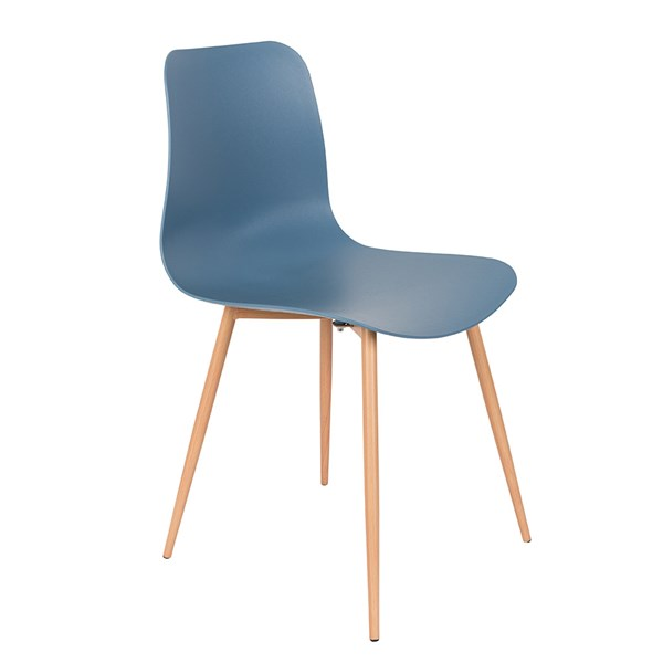 Pair of Leon Dining Chairs in Blue