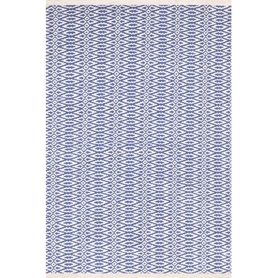 INDOOR FAIR ISLE RUG in French Blue