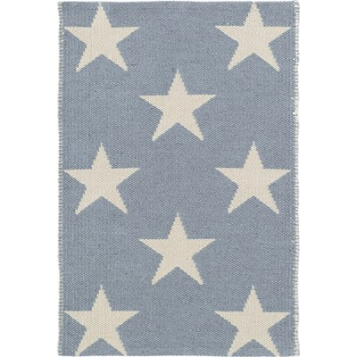 INDOOR OUTDOOR STAR RUG in Swedish Blue Ivory