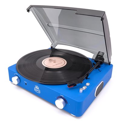 GPO Stylo II Record Player in Blue