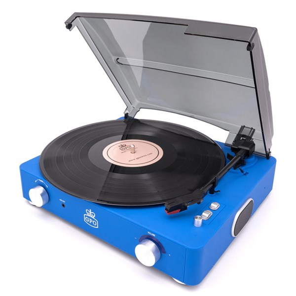 GPO Stylo 2 Record Player in Blue