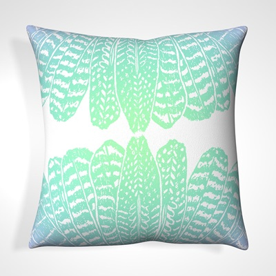 CUSHION in Tribal Feather Design
