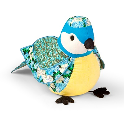 LITTLE BLUE TIT Bird Animal Paperweight by Dora Designs
