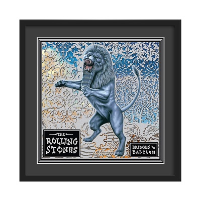 THE ROLLING STONES FRAMED ALBUM WALL ART in Bridges Of Babylon Print