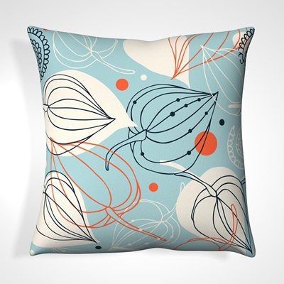 CUSHION in Abstract Floral Design