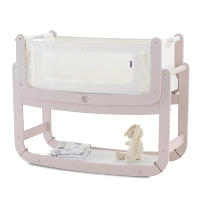Snuzpod 2: 3-In-1 Bedside Crib & Mattress in Blush ...