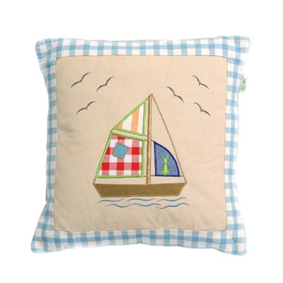 BOAT HOUSE Cushion Cover by Win Green