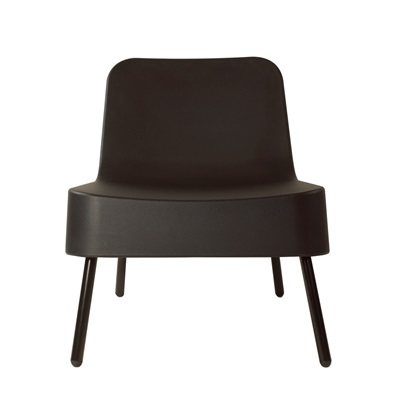 BOB RESIN OUTDOOR CHAIR in Black