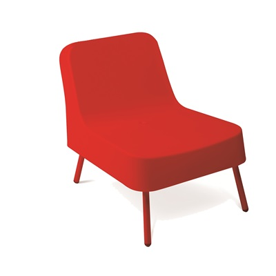 BOB RESIN OUTDOOR CHAIR in Red
