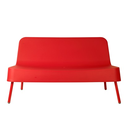 BOB RESIN OUTDOOR SOFA in Red