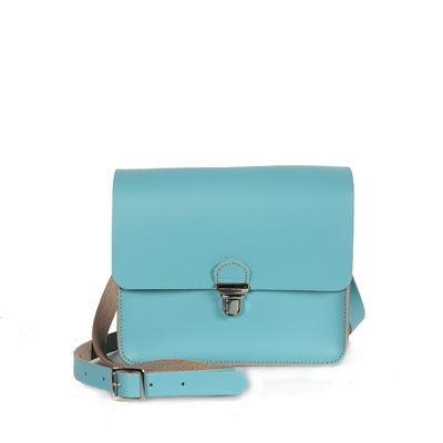 BOHO POP MINI CROSS BODY BAG in Aquamarine