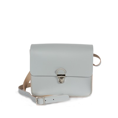 BOHO POP MINI CROSS BODY BAG in Pearl Grey