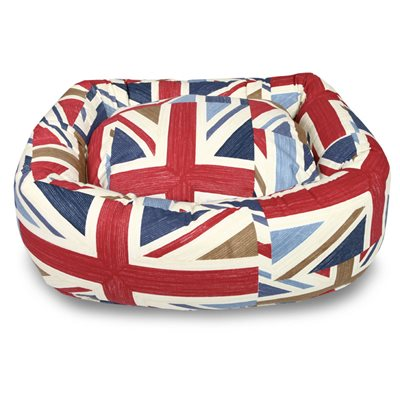 BOLSTER DOG BED in Union Jack by Hugo & Hennie