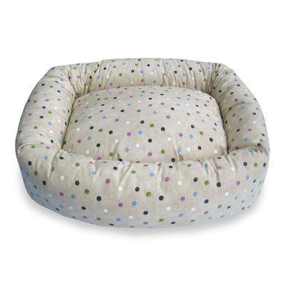 BOLSTER DELUXE DOG BED in Country Spot by Hugo & Hennie