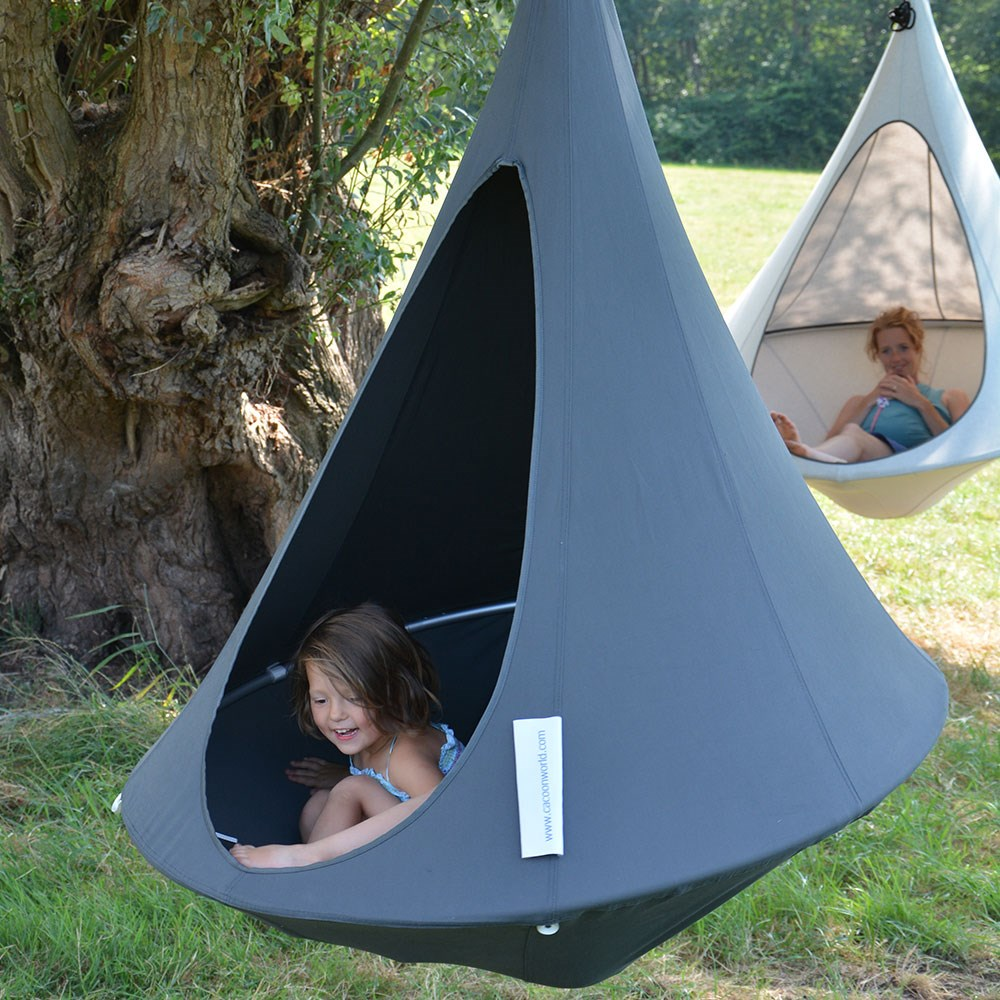 Bonsai Cacoon Kids Hanging Chair In Anthracite - Cacoon ...