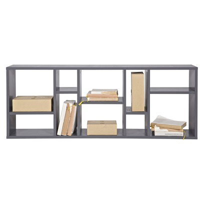 Contemporary Display Cabinet in Steel Grey Pine by Woood