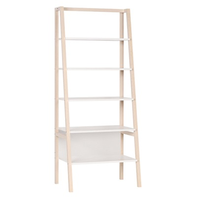 Vox Contemporary Spot a-Frame Bookcase in Acacia & White