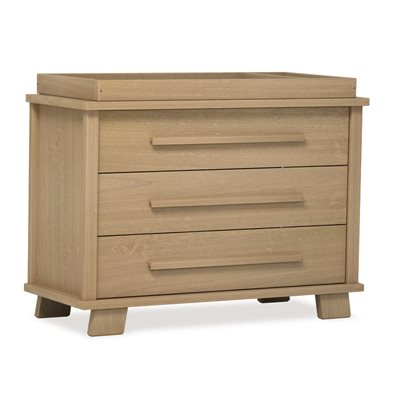 LUCIA BABY CHANGER & 3 DRAWER STORAGE CHEST in Almond