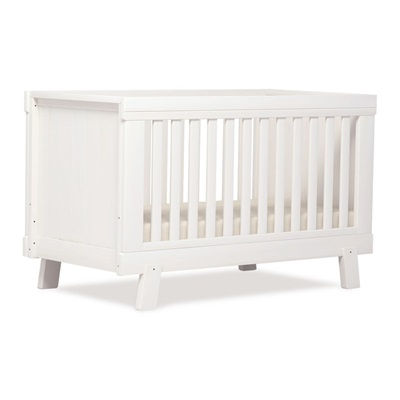 LUCIA CONVERTIBLE PLUS BABY COT & TODDLER BED in White