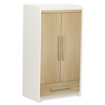 OMNI 2 DOOR WARDROBE in Almond & White
