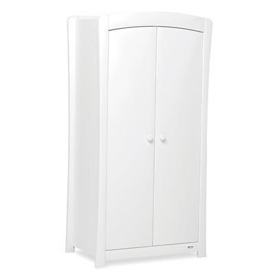 SUNSHINE 2 DOOR NURSERY WARDROBE in White