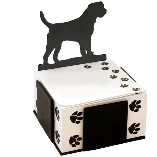 Black Note Paper Holder in Border Terrier Design