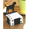 Dog Designed Black Note Paper Holder