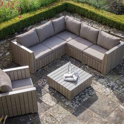Garden Furniture Corner Sofa bosham outdoor corner sofa set in polywood - garden | cuckooland