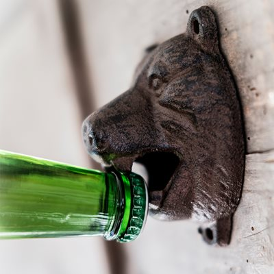 MEN'S SOCIETY BEAR HEAD BOTTLE OPENER