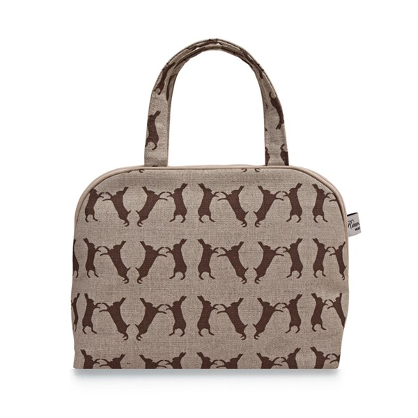 Bowling Bag in Boxing Hare Design